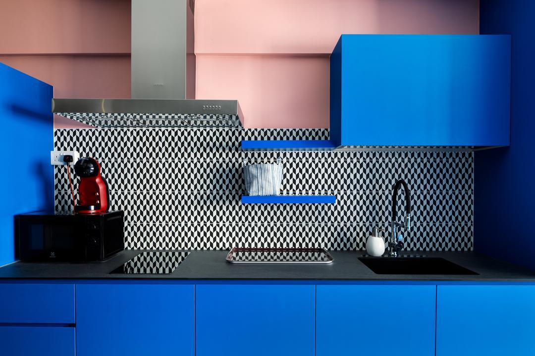 Ang Mo Kio Avenue 1, Karpentree Studio, Modern, Retro, Kitchen, HDB