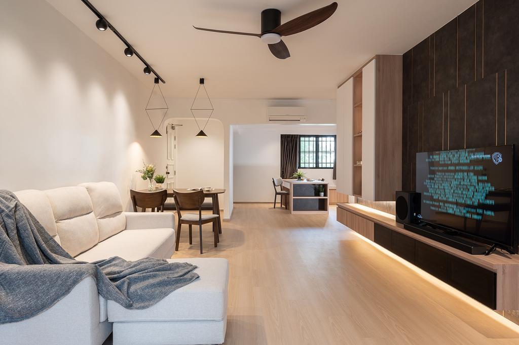 Scandinavian, HDB, Living Room, Jurong East Street 24, Interior Designer, ELPIS Interior Design