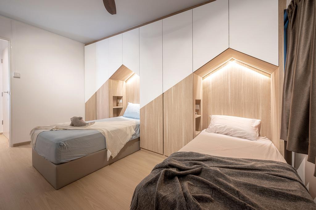 Scandinavian, HDB, Bedroom, Jurong East Street 24, Interior Designer, ELPIS Interior Design
