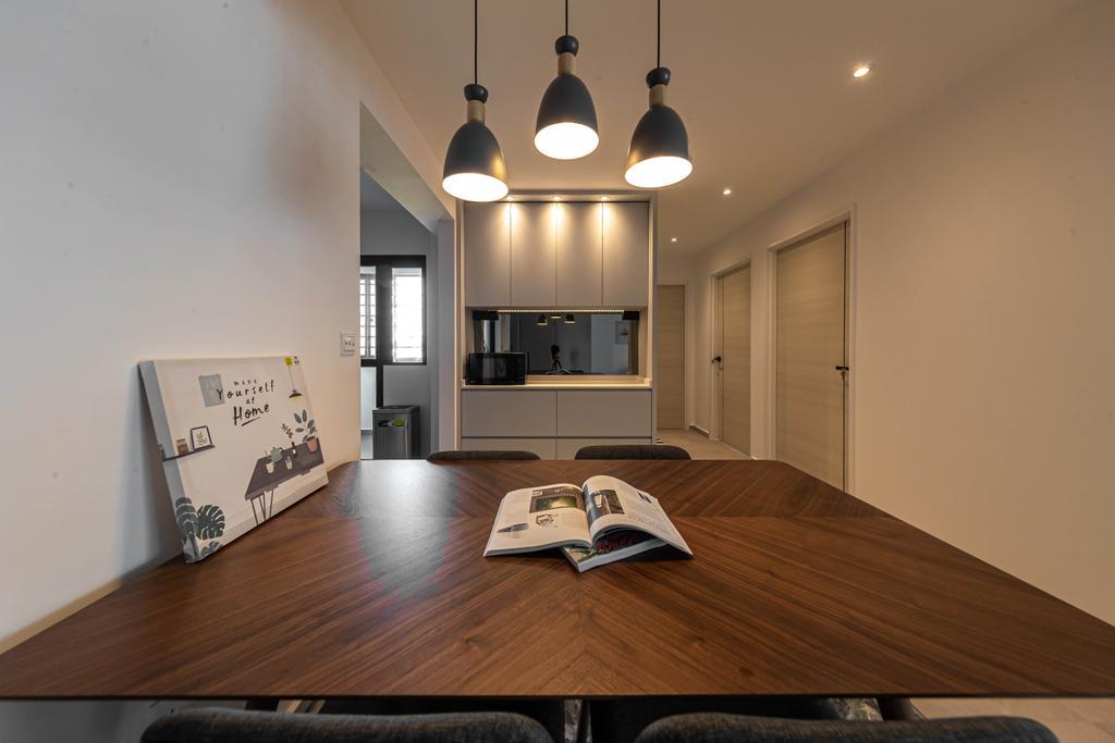 Contemporary, HDB, Dining Room, Tampines, Interior Designer, Swiss Interior Design, Scandinavian