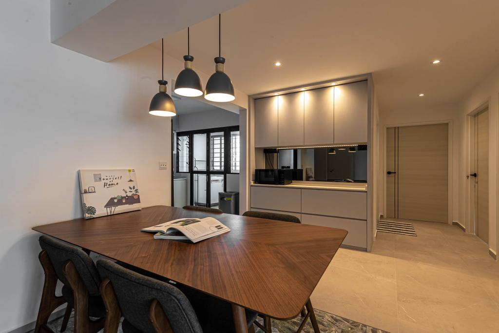 Contemporary, HDB, Dining Room, Tampines, Interior Designer, Swiss Interior Design, Scandinavian