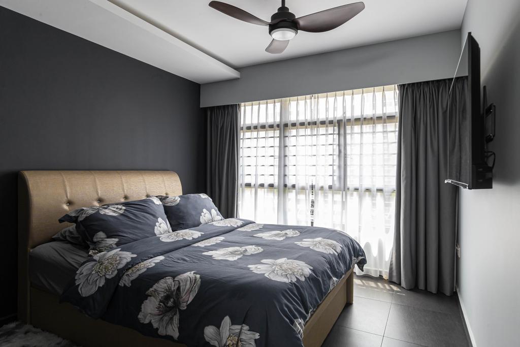Contemporary, HDB, Bedroom, Tampines, Interior Designer, Swiss Interior Design, Scandinavian