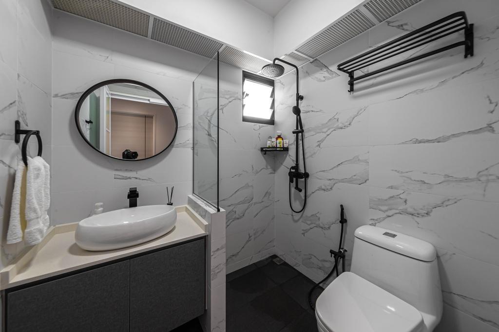 Contemporary, HDB, Bathroom, Tampines, Interior Designer, Swiss Interior Design, Scandinavian
