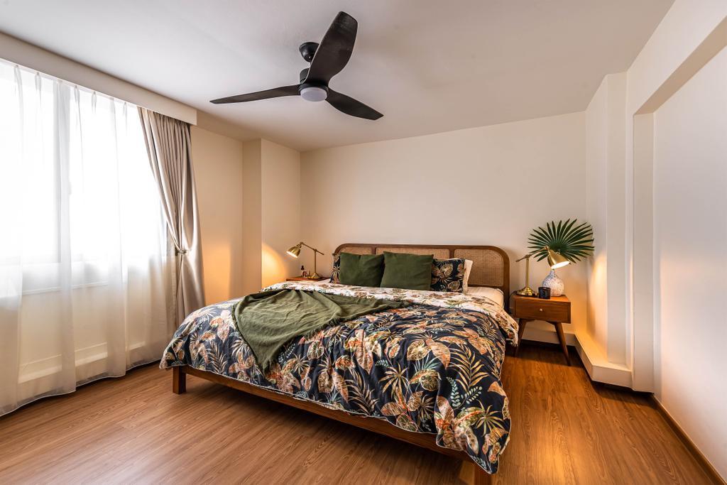 Eclectic, HDB, Bedroom, Choa Chu Kang, Interior Designer, Swiss Interior Design, Vintage