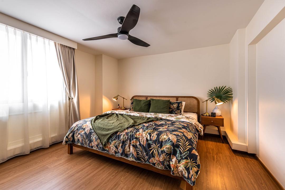 Choa Chu Kang, Swiss Interior Design, Eclectic, Vintage, Bedroom, HDB