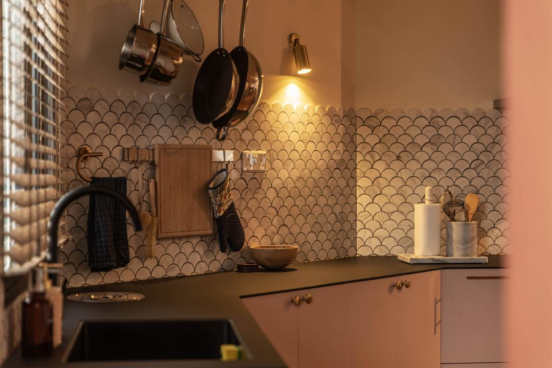 Choa Chu Kang, Swiss Interior Design, Eclectic, Vintage, Kitchen, HDB