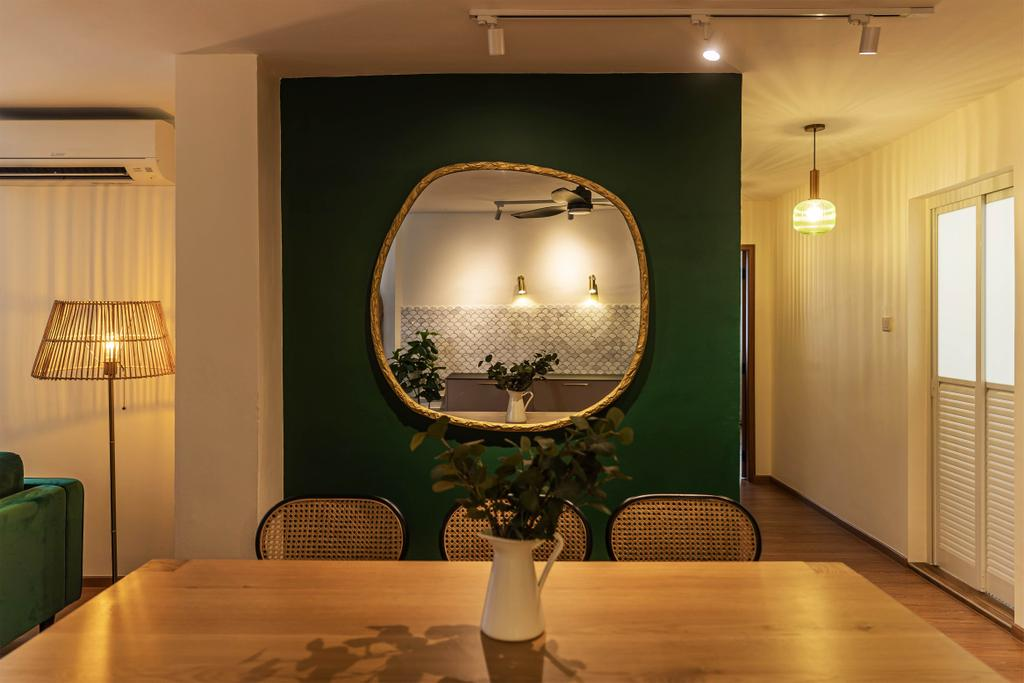 Eclectic, HDB, Dining Room, Choa Chu Kang, Interior Designer, Swiss Interior Design, Vintage