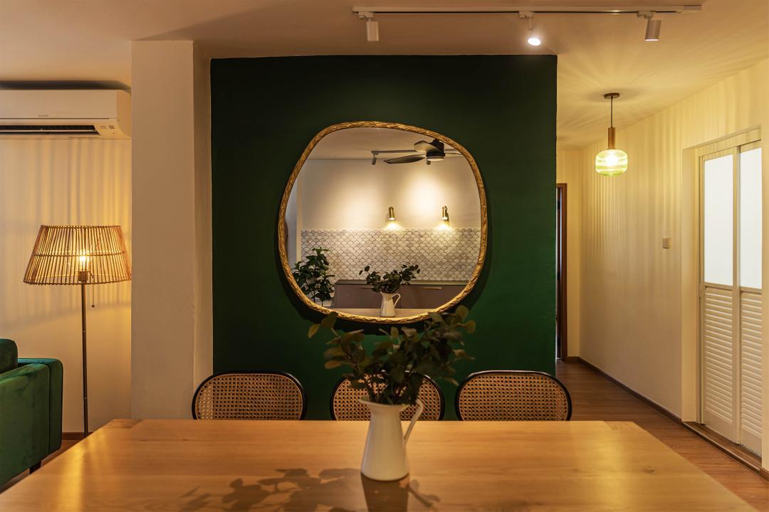 Choa Chu Kang, Swiss Interior Design, Eclectic, Vintage, Dining Room, HDB