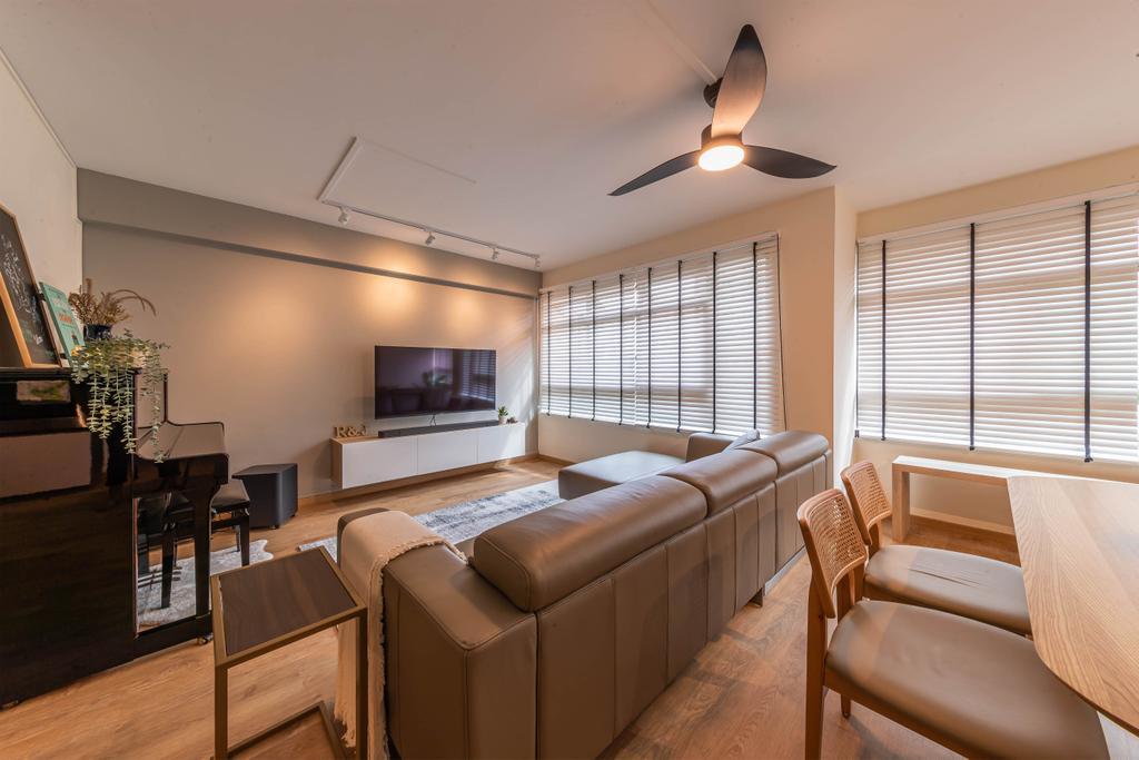 Modern, HDB, Living Room, Compassvale Link, Interior Designer, Swiss Interior Design, Scandinavian