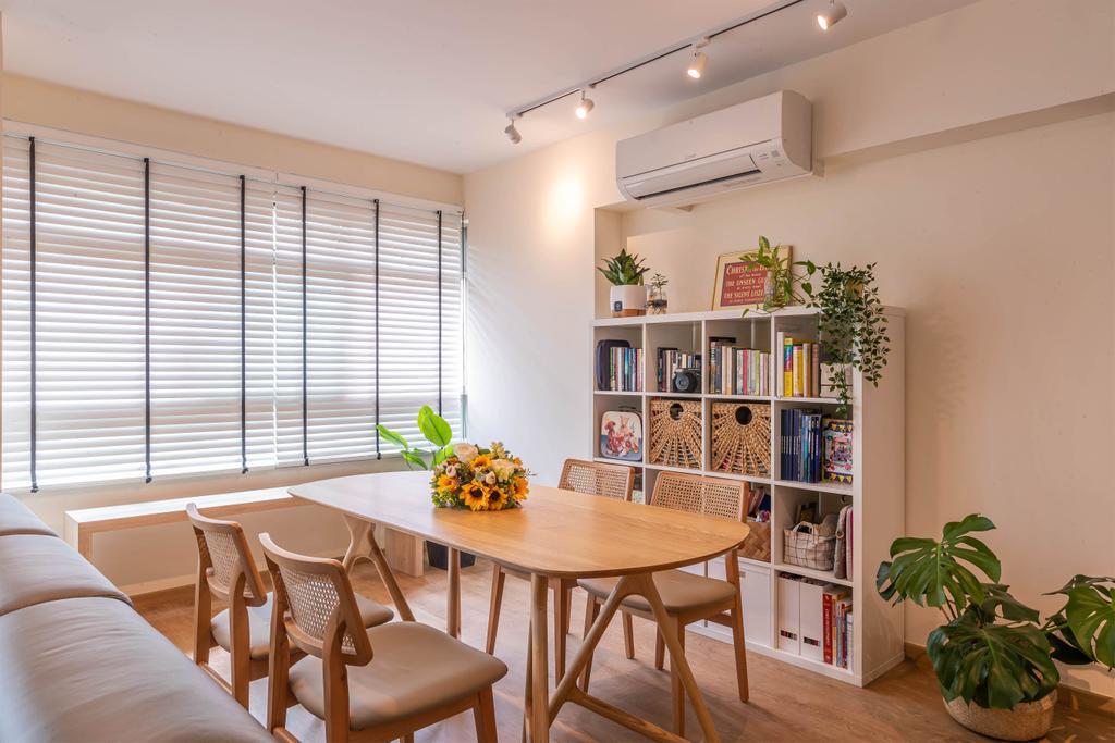 Modern, HDB, Dining Room, Compassvale Link, Interior Designer, Swiss Interior Design, Scandinavian