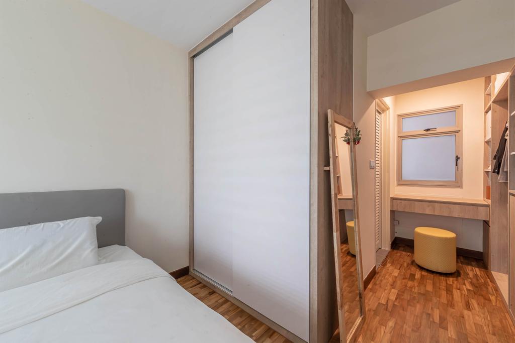 Modern, HDB, Bedroom, Compassvale Link, Interior Designer, Swiss Interior Design, Scandinavian