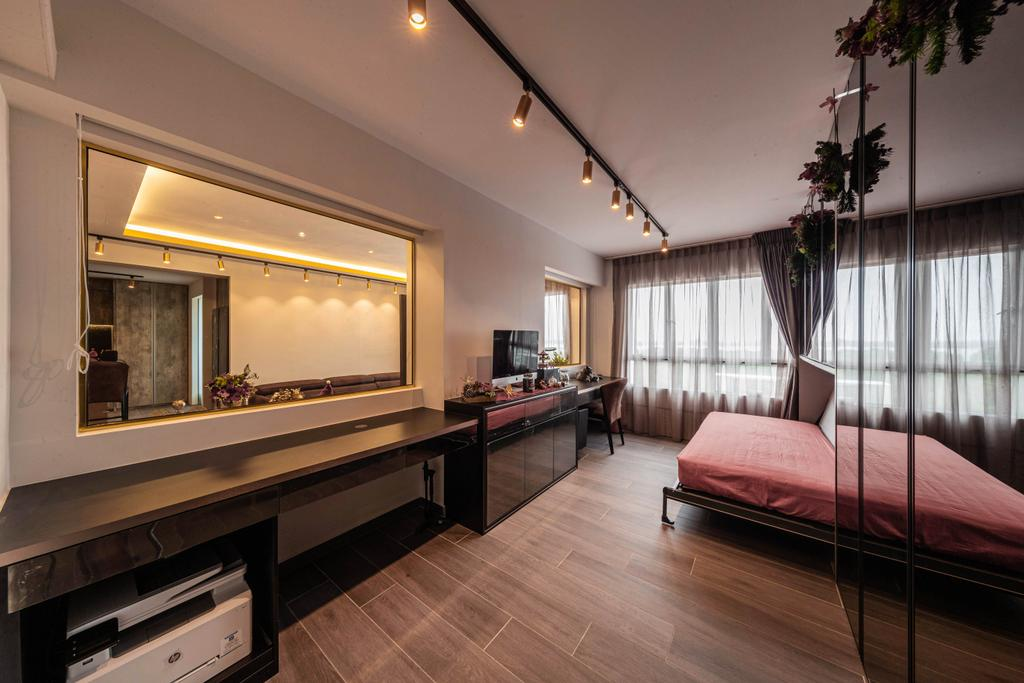 Contemporary, HDB, Bedroom, Pasir Ris, Interior Designer, Swiss Interior Design