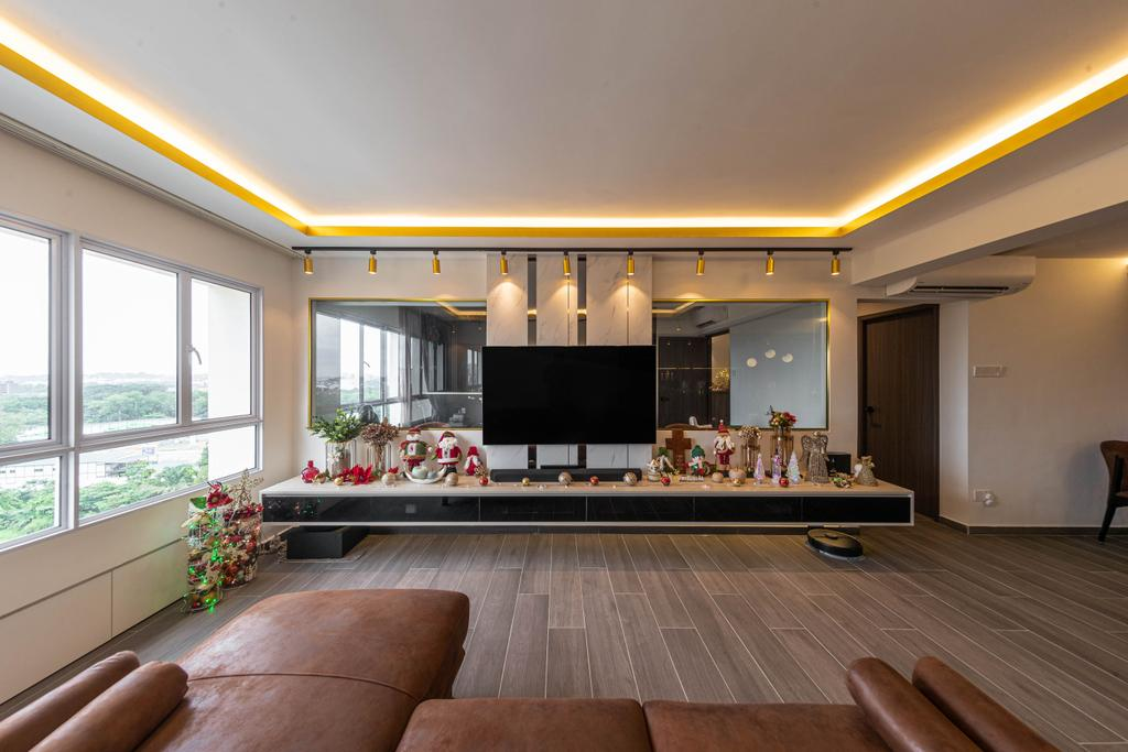 Contemporary, HDB, Living Room, Pasir Ris, Interior Designer, Swiss Interior Design
