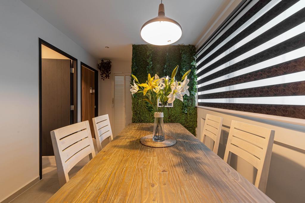 Scandinavian, HDB, Dining Room, Tampines, Interior Designer, Swiss Interior Design