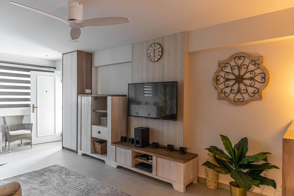 Scandinavian, HDB, Living Room, Tampines, Interior Designer, Swiss Interior Design