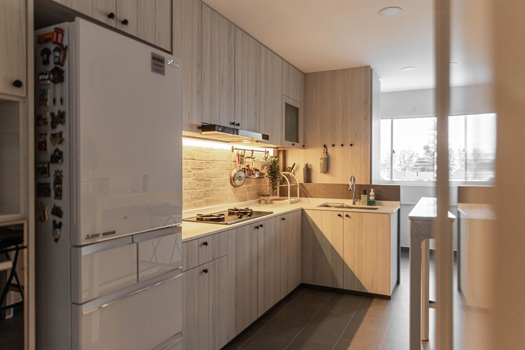 Scandinavian, HDB, Kitchen, Tampines, Interior Designer, Swiss Interior Design