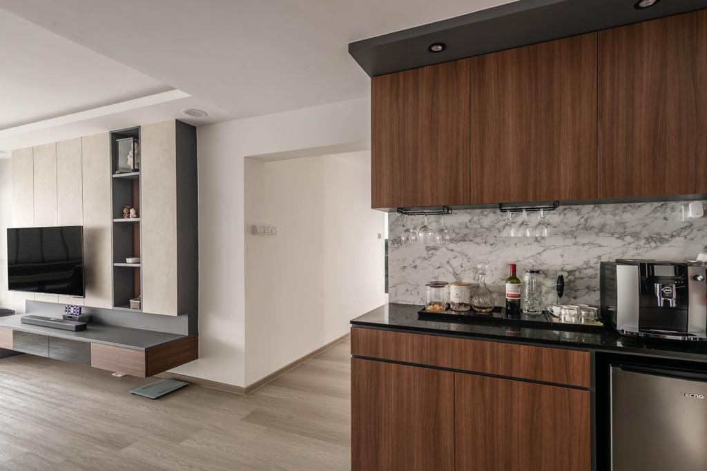 Contemporary, HDB, Living Room, Yishun, Interior Designer, Swiss Interior Design