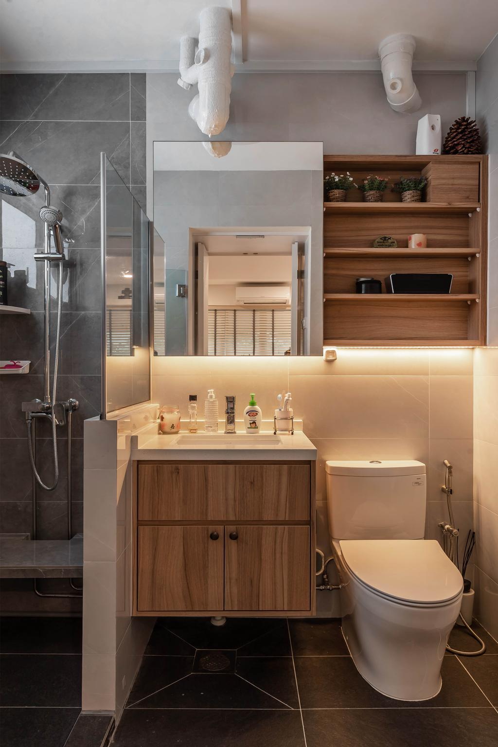 Contemporary, HDB, Bathroom, Yishun, Interior Designer, Swiss Interior Design