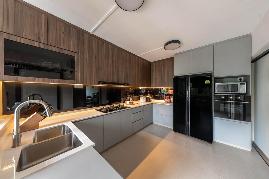 Contemporary, HDB, Kitchen, Yishun, Interior Designer, Swiss Interior Design