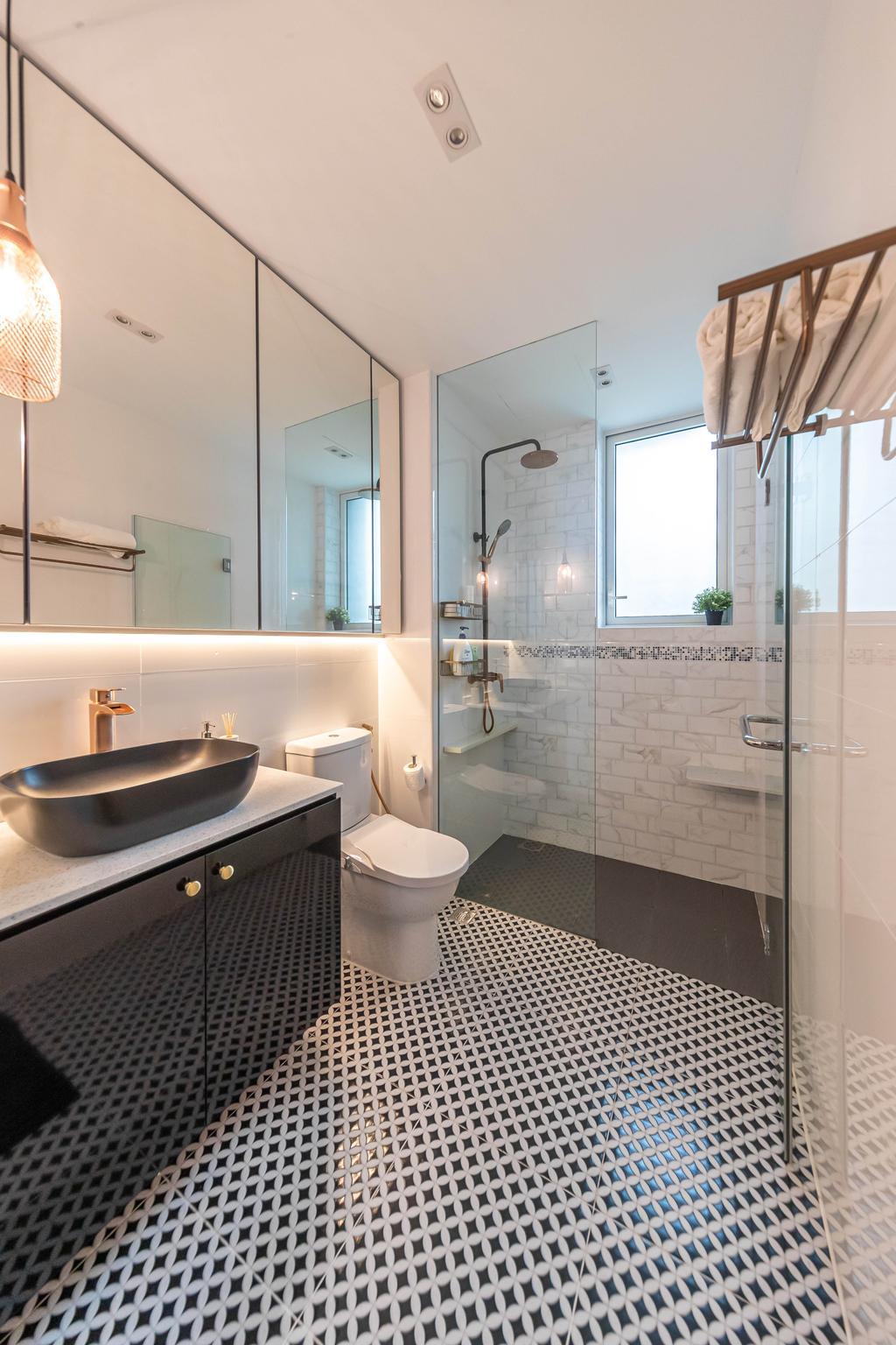 Contemporary, Condo, Bathroom, Roots @ Transit, Interior Designer, Swiss Interior Design