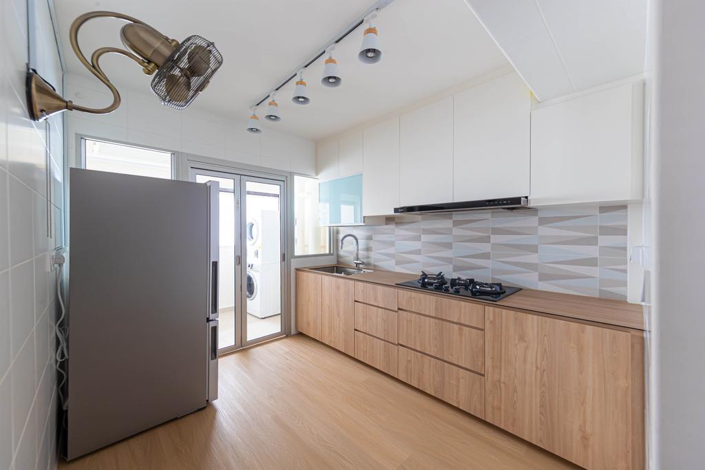 Modern, HDB, Kitchen, Tampines, Interior Designer, Swiss Interior Design, Scandinavian