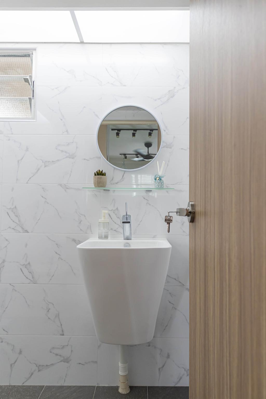 Modern, HDB, Bathroom, Tampines, Interior Designer, Swiss Interior Design, Scandinavian