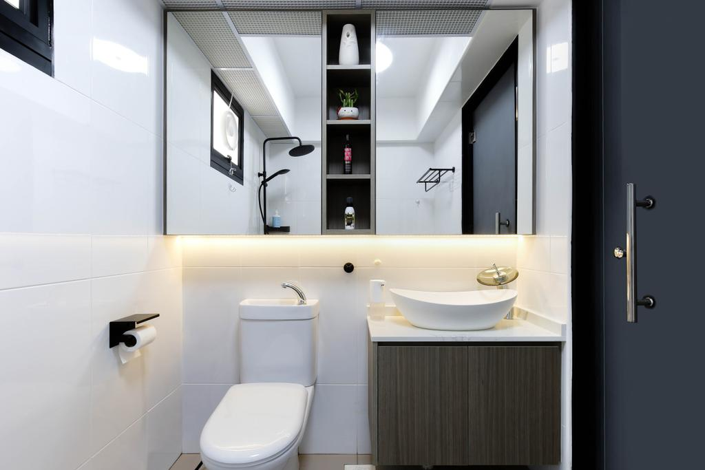 Modern, HDB, Bathroom, Bukit Batok Street 41, Interior Designer, Craftsmen Atelier, Contemporary