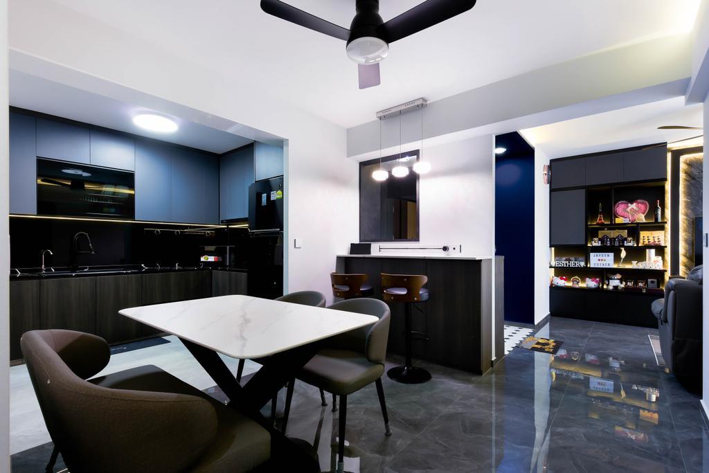 Modern, HDB, Dining Room, Bukit Batok Street 41, Interior Designer, Craftsmen Atelier, Contemporary