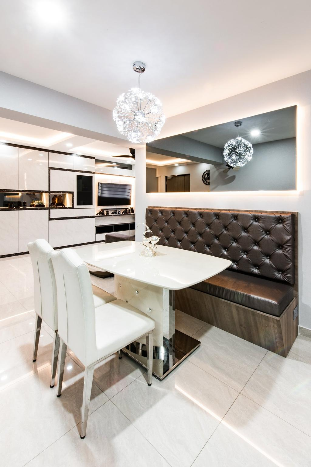 Modern, HDB, Dining Room, Jalan Membina, Interior Designer, Mr Designer Studio, Contemporary