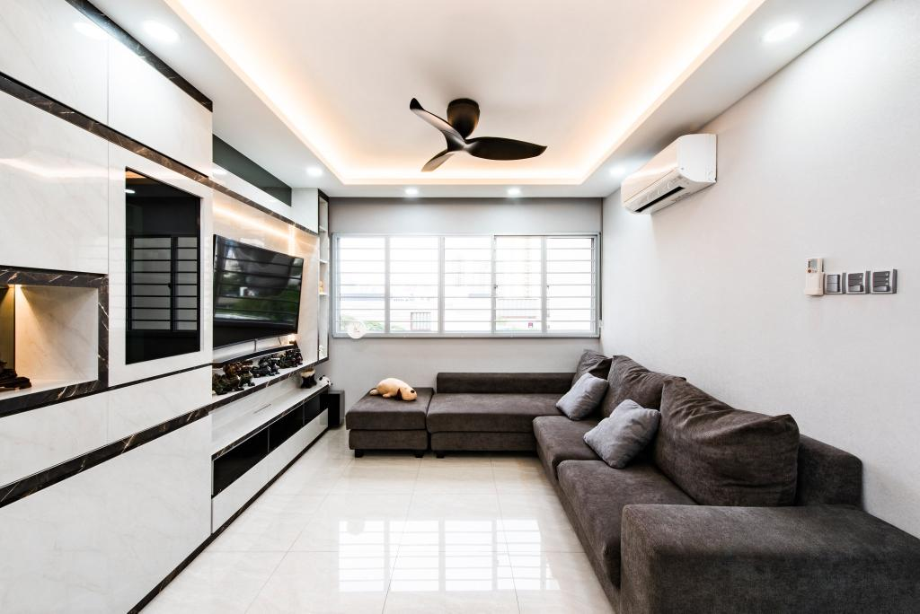 Modern, HDB, Living Room, Jalan Membina, Interior Designer, Mr Designer Studio, Contemporary