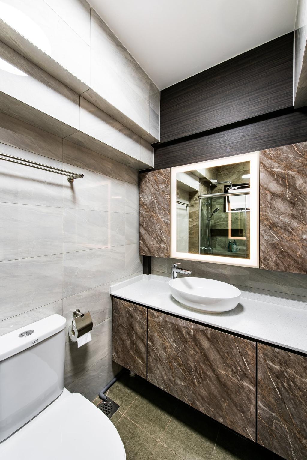 Modern, HDB, Bathroom, Jalan Membina, Interior Designer, Mr Designer Studio, Contemporary