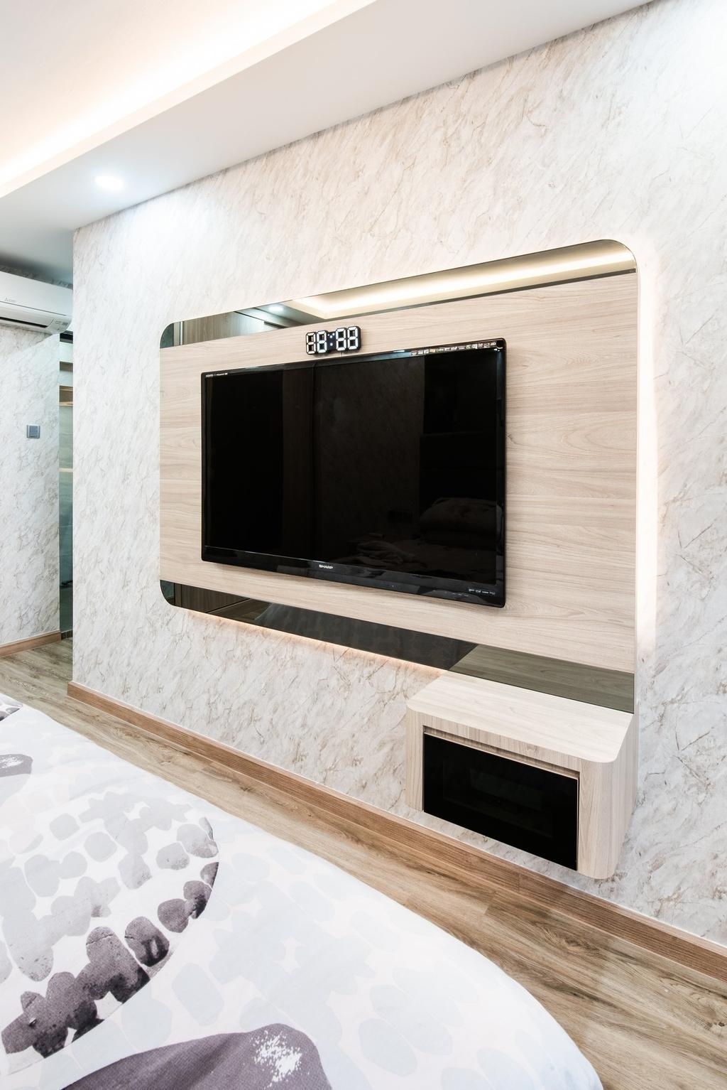 Modern, HDB, Bedroom, Jalan Membina, Interior Designer, Mr Designer Studio, Contemporary