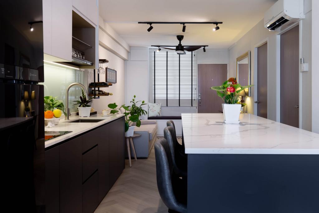 Contemporary, HDB, Kitchen, Lor 7 Toa Payoh, Interior Designer, Noble Interior Design, Scandinavian