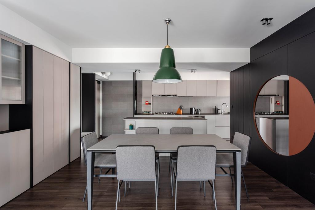 Contemporary, HDB, Dining Room, Clementi Avenue 3, Interior Designer, Habit