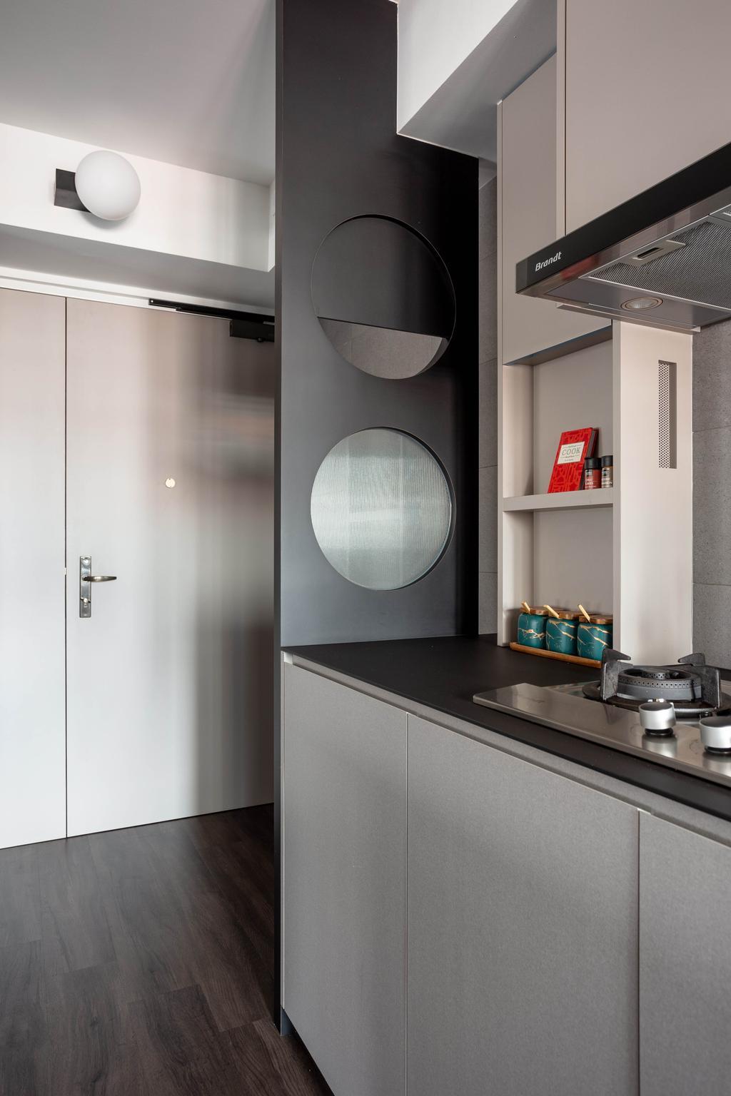 Contemporary, HDB, Kitchen, Clementi Avenue 3, Interior Designer, Habit
