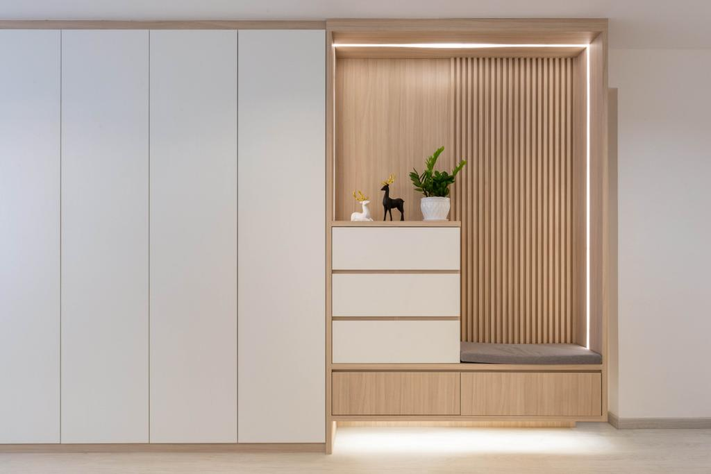 Modern, HDB, Living Room, Woodlands Drive 40, Interior Designer, Mr Designer Studio, Scandinavian