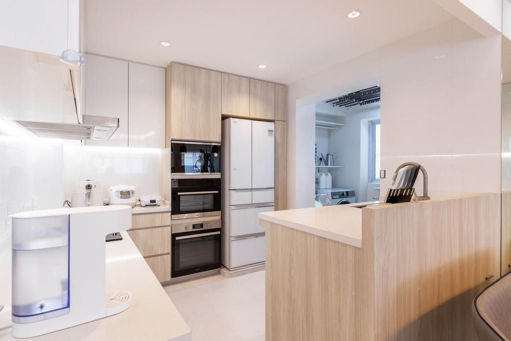 Modern, HDB, Kitchen, Woodlands Drive 40, Interior Designer, Mr Designer Studio, Scandinavian