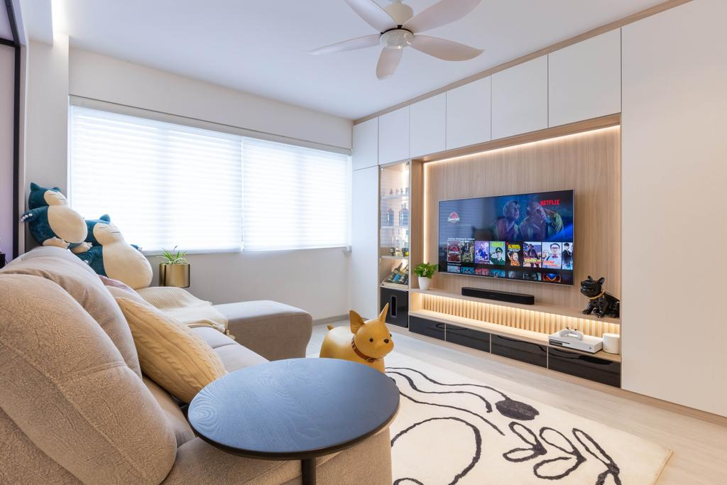 Modern, HDB, Living Room, Woodlands Drive 40, Interior Designer, Mr Designer Studio, Scandinavian