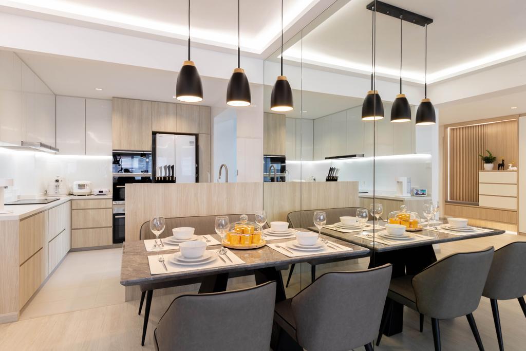 Modern, HDB, Dining Room, Woodlands Drive 40, Interior Designer, Mr Designer Studio, Scandinavian