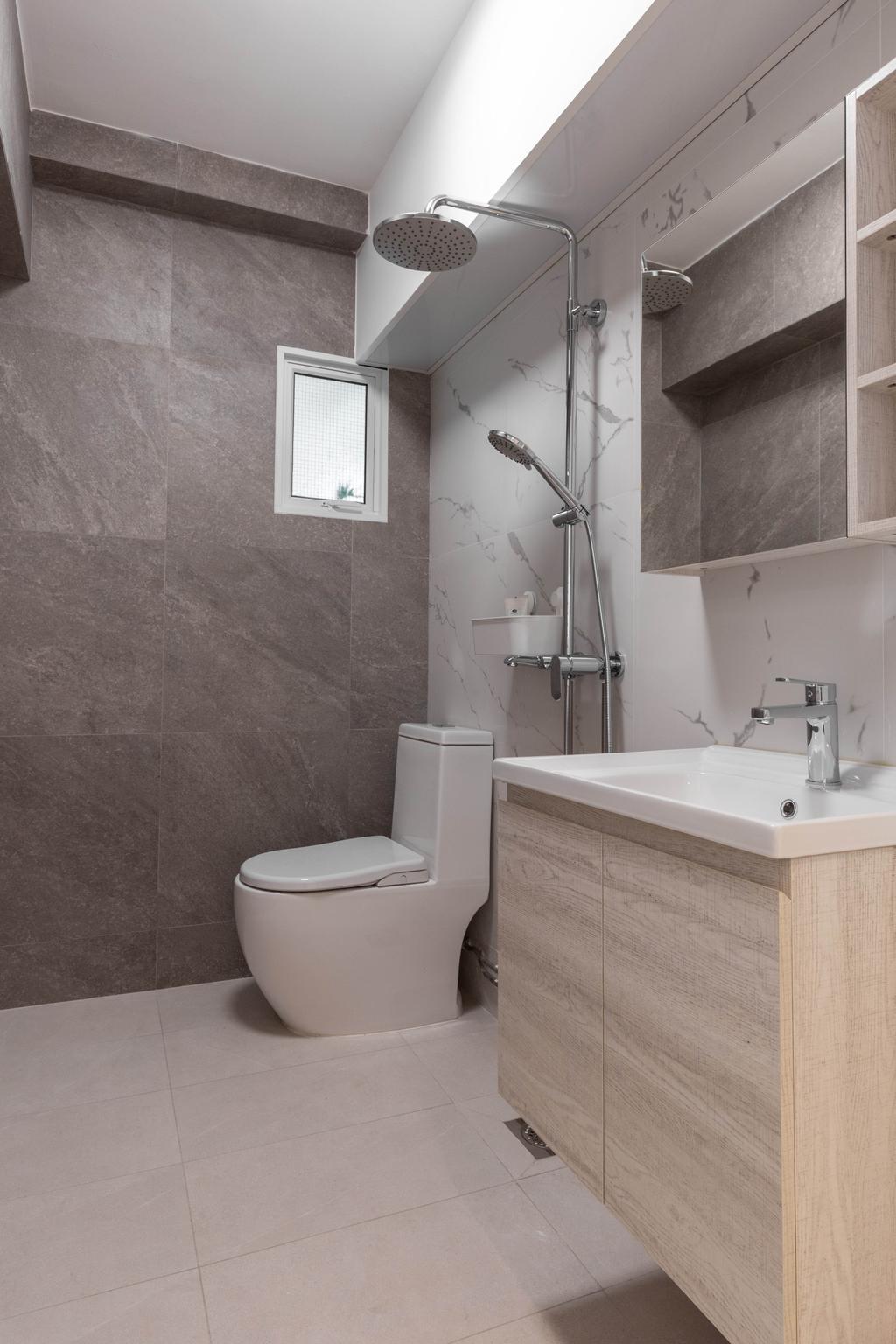 Modern, HDB, Bathroom, Woodlands Drive 40, Interior Designer, Mr Designer Studio, Scandinavian