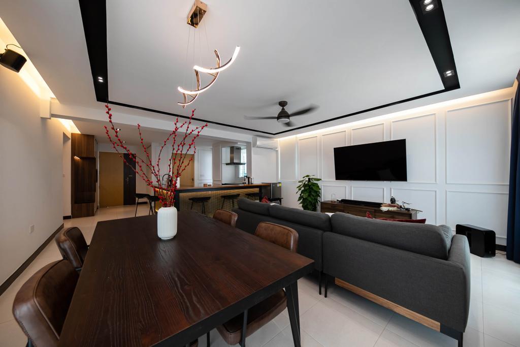 Modern, HDB, Dining Room, Punggol Field, Interior Designer, Space Atelier