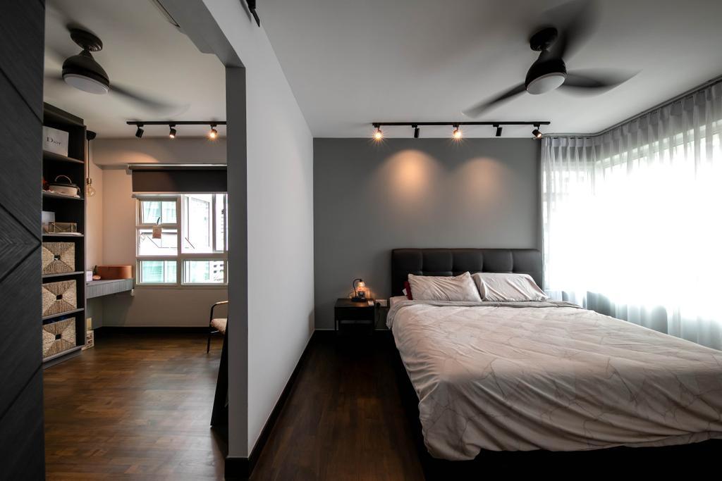 Modern, HDB, Bedroom, Punggol Field, Interior Designer, Space Atelier