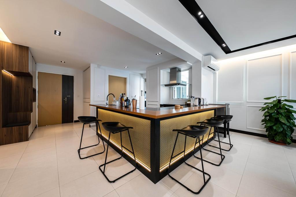 Modern, HDB, Kitchen, Punggol Field, Interior Designer, Space Atelier