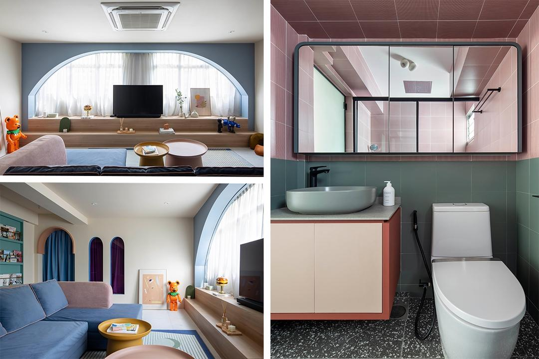 Wes Anderson-Inspired 4-Room Flat Has XL-Sized Living Area 23