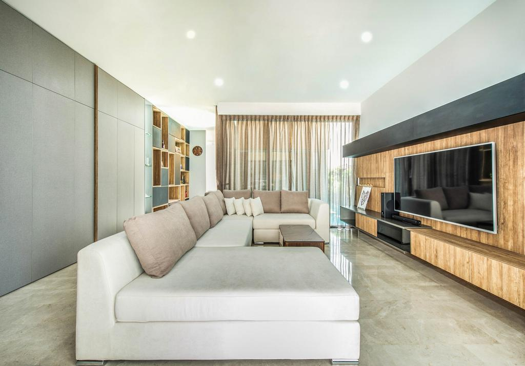 Contemporary, Landed, Living Room, Springside View, Interior Designer, Dyel Design