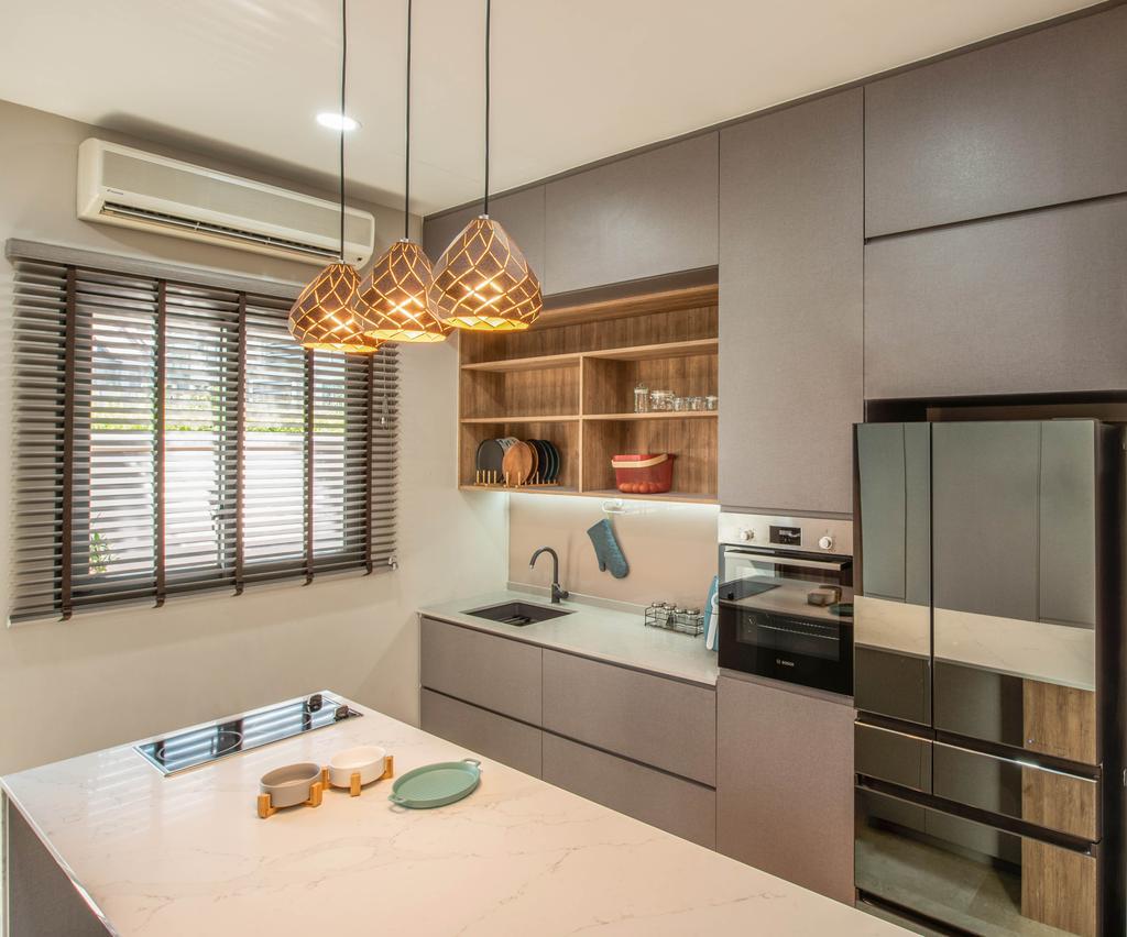 Contemporary, Landed, Kitchen, Springside View, Interior Designer, Dyel Design