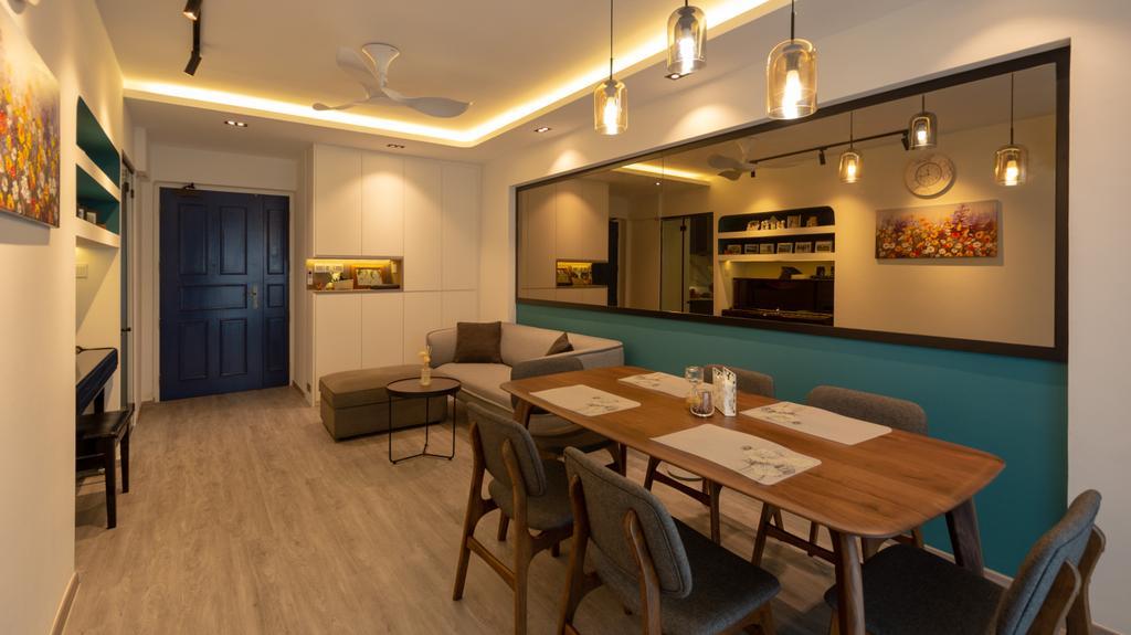 Modern, HDB, Dining Room, Strathmore Avenue, Interior Designer, Diva's Interior Design