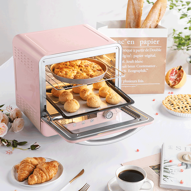 Multifunctional Electric Oven in Pink by Bear