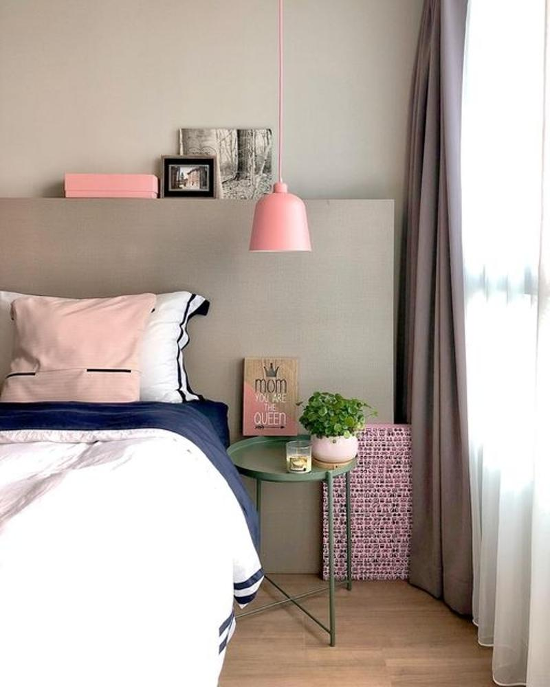 Silvia Lamp with Metallic Accent Sleeves in Pink from LikeLights