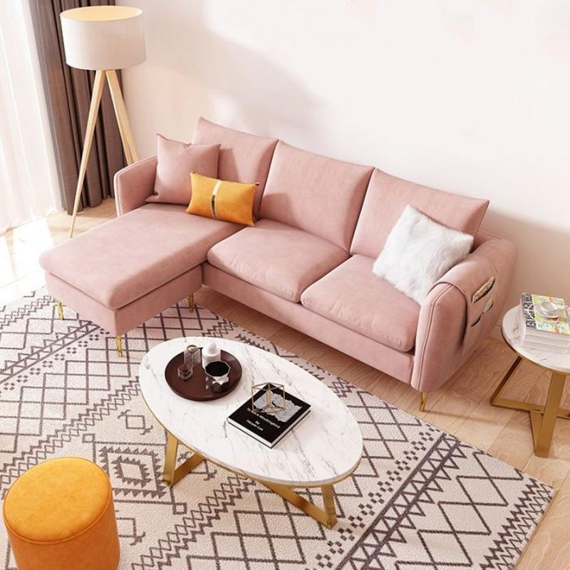Velvet L-Shape 3 Seater Sofa from Born in Colour